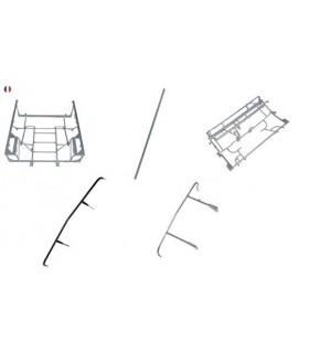 ENSEMBLE CHASSIS TUBULAIRES ANCIEN MODELE NOIR POUR MEHARI