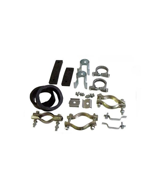 Kit colliers complets pour échappement 2CV