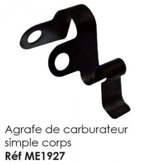 AGRAFE CARBU SIMPLE CORPS POUR MEHARI 2CV ET DERIVES