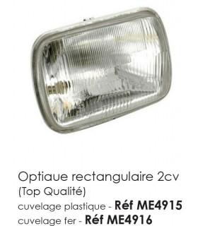 OPTIQUE RECTANGULAIRE 2CV POUR CUVELAGE FER