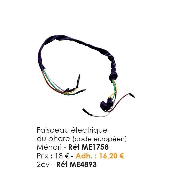 FAISCEAU ELECTRIQUE DE PHARE POUR 2CV6