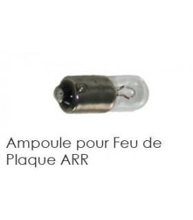AMPOULE DE FEU DE PLAQUE ARRIERE 6V 5W