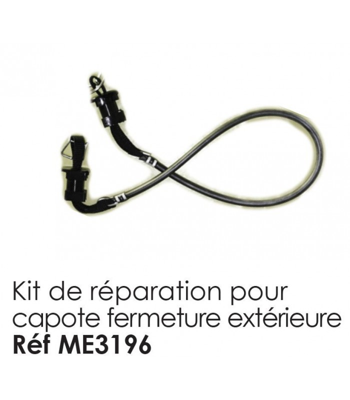 kit de reparation pour capote 2cv fermeture exterieure. Black Bedroom Furniture Sets. Home Design Ideas