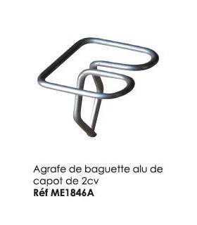 AGRAFE DE BAGUETTE ALU DE CAPOT POUR 2CV