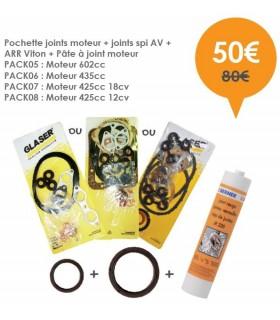 Pochette 602cc joints moteur Top + joints spi AV + ARR Viton + Pâte à joint