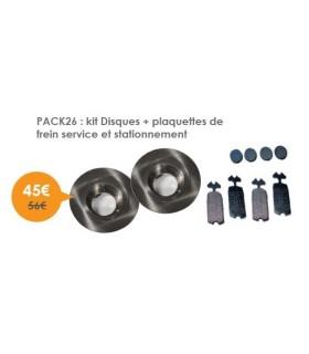 kit Disques + plaquettes de frein ( toutes )