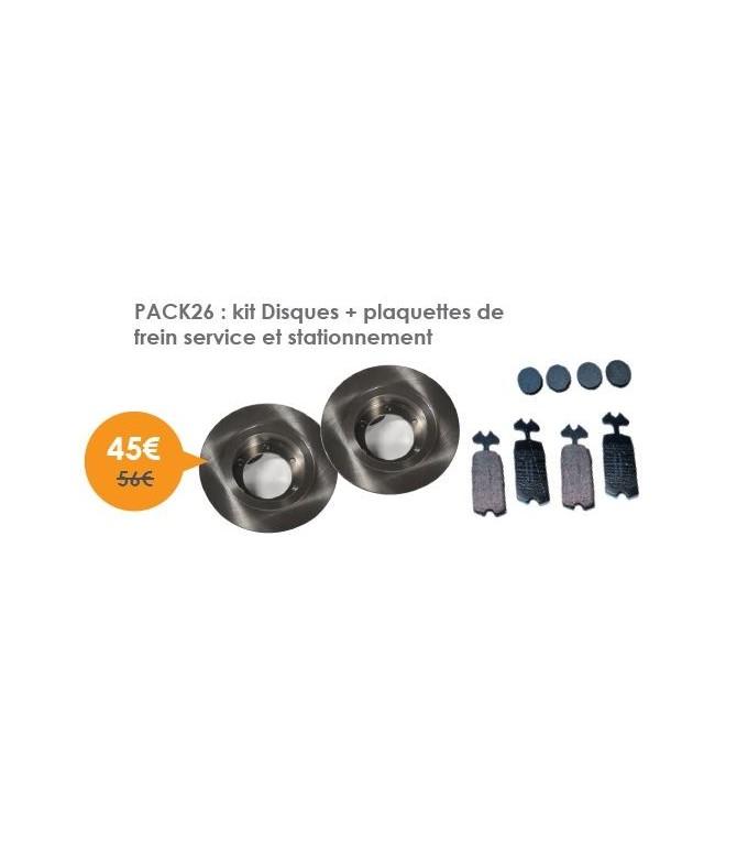 kit Disques + plaquettes de frein service et stationnement