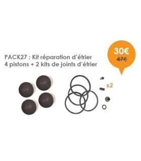 Kit réparation d'étrier 4 pistons + 2 kits de joints d'étrier