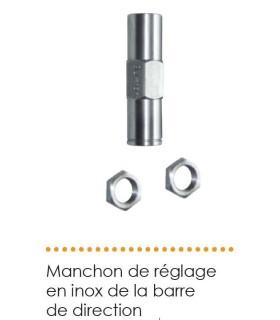 MANCHON DE REGLAGE EN INOX DE LA BARRE DE DIRECTION POUR 2CV