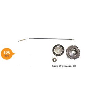 PACK EMBRAYAGE 602 CC 18 CANNELURES + CABLE POUR UN MODELE APRES 1982