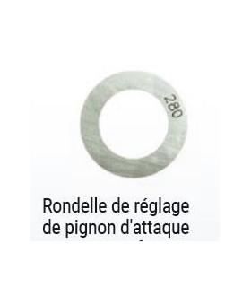 RONDELLE DE REGLAGE DE PIGNON D ATTAQUE 2.85mm 602cc