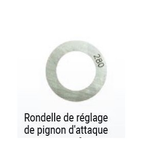 RONDELLE DE REGLAGE DU TRAIN INTERMEDIAIRE 2.10mm 602cc