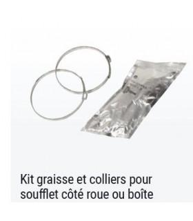 KIT GRAISSE ET COLLIERS POUR SOUFFLET DE CARDAN COTE ROUE OU BOITE