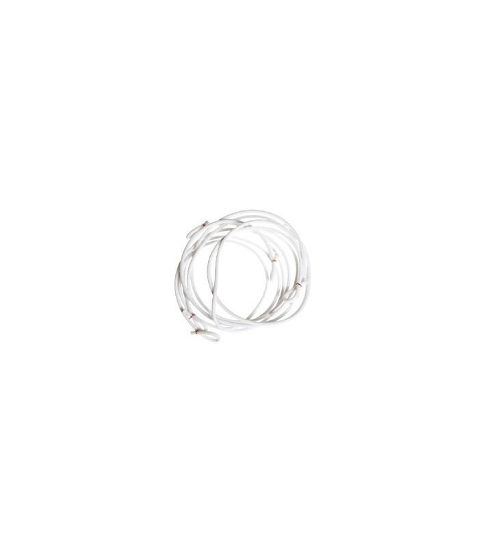 Elastiques de bâche Méhari x3 blanc