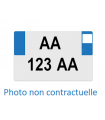 PLAQUE IMMATRICULATION SIV BLANCHE CARREE POUR ARRIERE 275 X 200 MM