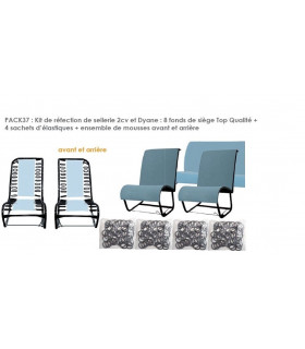 Kit de réfection de sellerie pour 2CV et Dyane ayant 2 sièges avant séparé